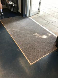 entry mat by doorway